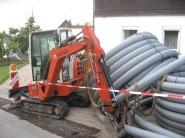 Bioenergiedorf Effelter - Spatenstich und Bauarbeiten 2009